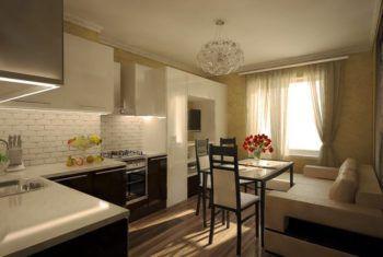 Кухня-гостиная 15 квадратов - дизайн