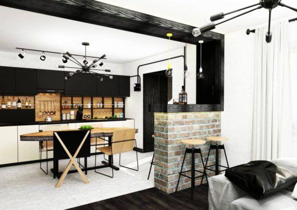 Кухня должна переходить в гостиную без явных границ