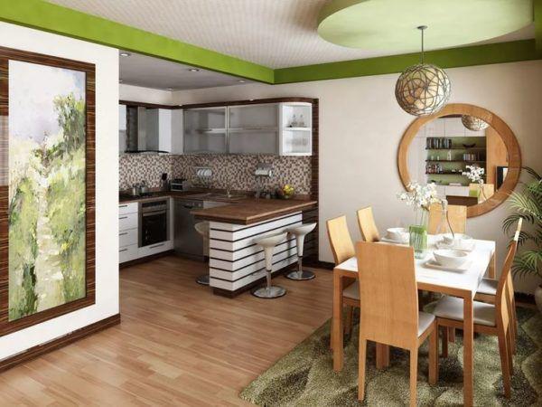 Кухня, совмещенная с залом