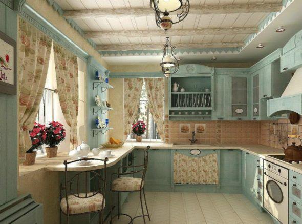 Кухня с плиточной мозаикой
