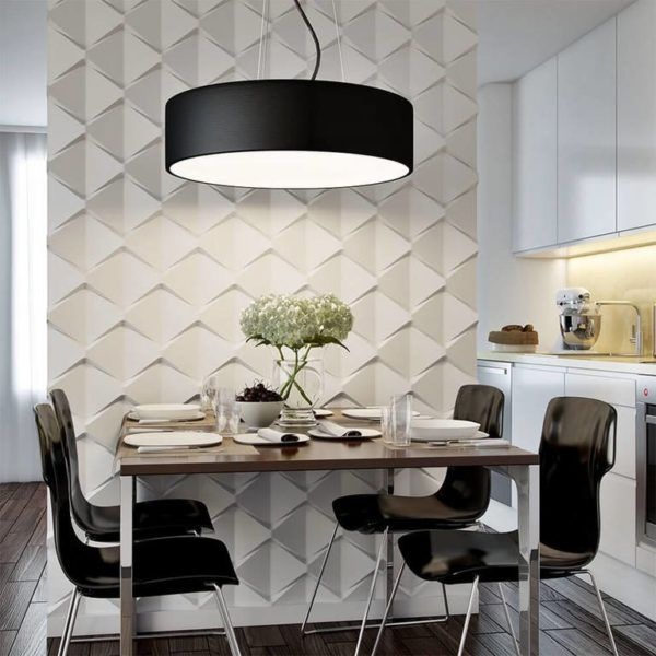 Кухня с 3D мозаикой на стене отличный вариант разнообразить интерьер