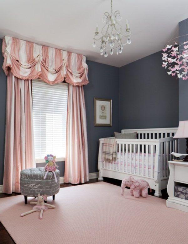 Ласковый розовый в комнате для ребенка