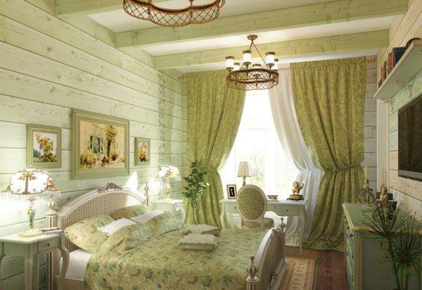 Люстра с правильным деревенским стилем для спальни