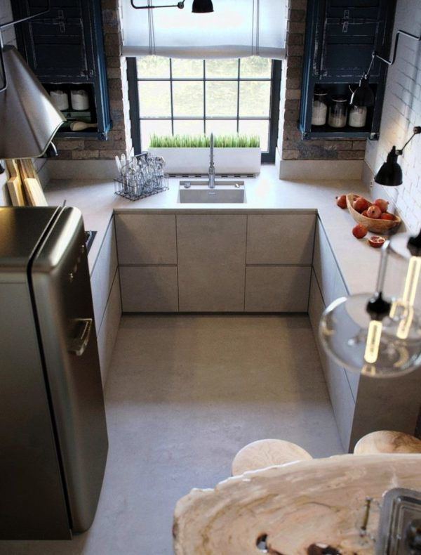 Мебель для кухни в стиле лофт должна быть максимально функциональной и компактной
