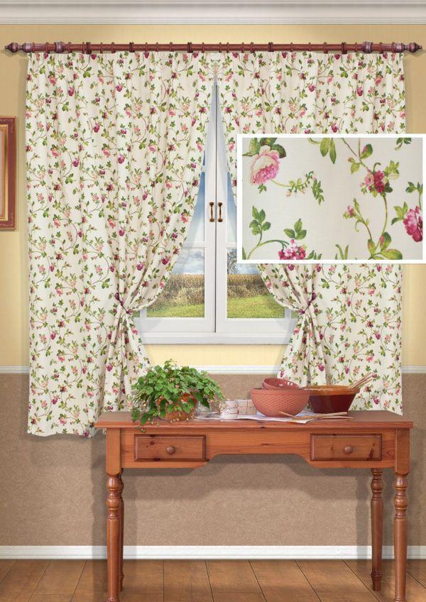 Мелкий цветочный принт является классикой штор стиля прованс