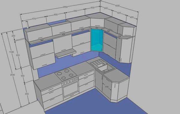 Можно заказать кухонную мебель по индивидуальным параметрам