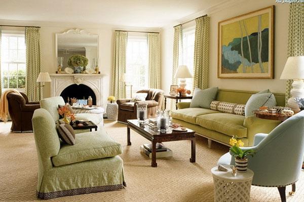 Мягкая мебель расставляется по центру комнаты