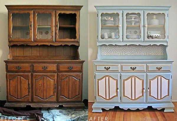 Нанесение патины на старую мебель