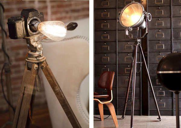 Напольные светильники в стиле Лофт