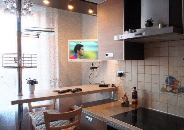 Небольшая барная стойка в кухне