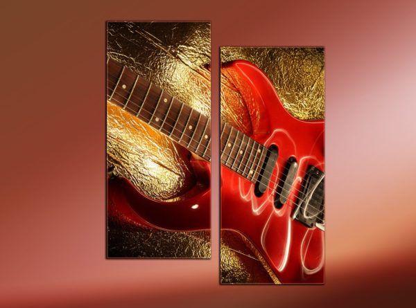 Необычный диптих с гитарой
