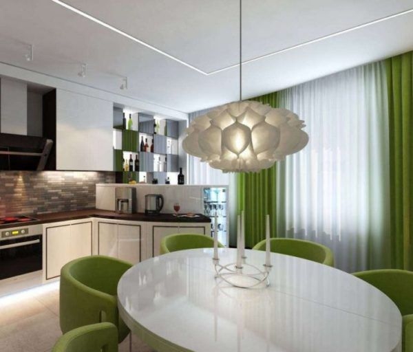 Оливковая гостиная