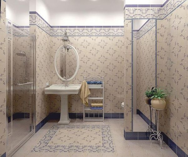 Оригинальный дизайн в ванной комнате