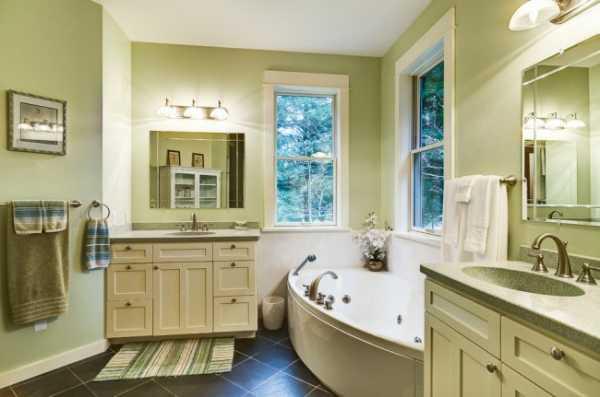 Оригинальным элементом ванной комнаты в американском стиле является окно