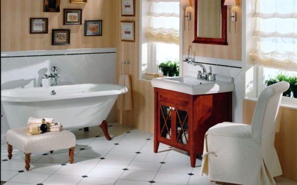 Панно в ванной комнате