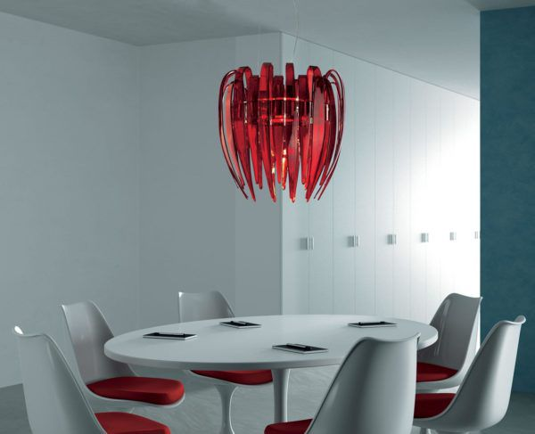 Подвесной светильник на кухне