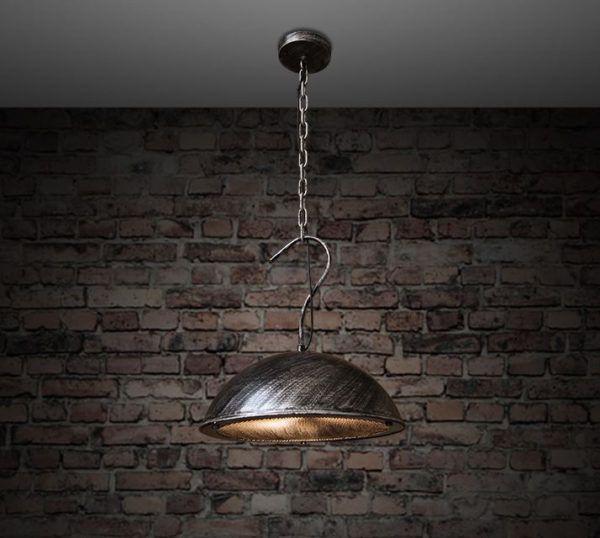 Подвесной светильник пыльно-серого металлического цвета