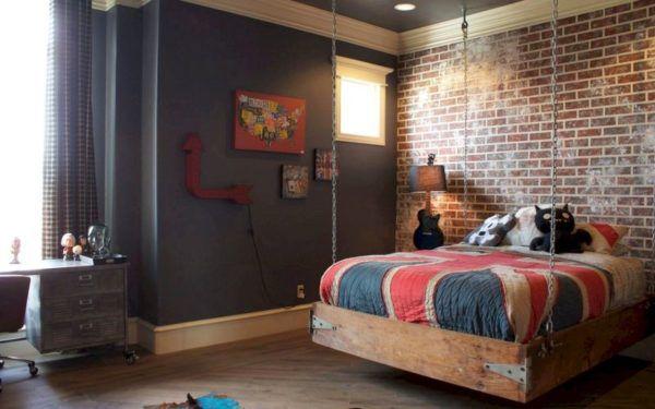 Подростковая комната в стиле лофт