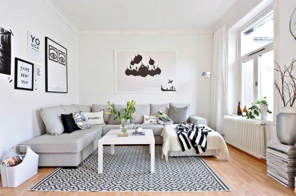Покрашенные или побеленные стены характерны для интерьера в скандинавском стиле