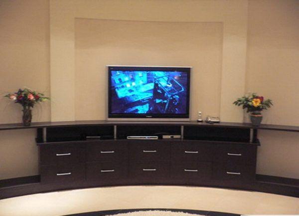 Полукруглый комод под телевизор