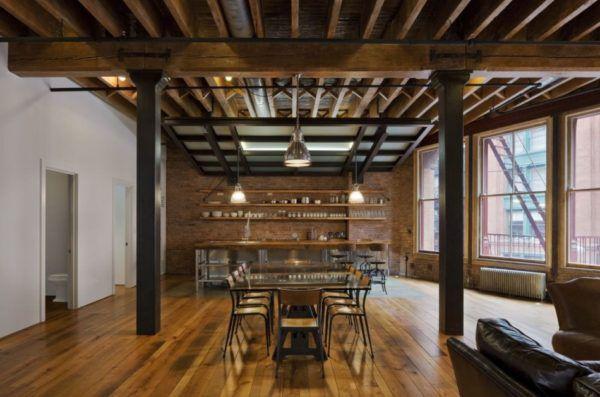 Помещение в стиле Лофт - это урбанистические мотивы, заводские склады и обжитые мастерские