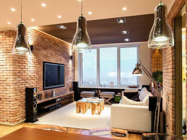 Потолочные светильники в интерьере стиля Лофт