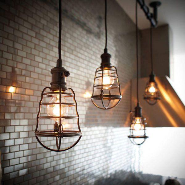 Потолочные светильники с длинными проводами