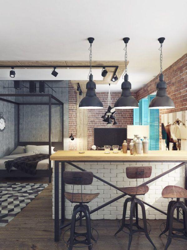Применение прожекторов на потолке и подвесных светильников