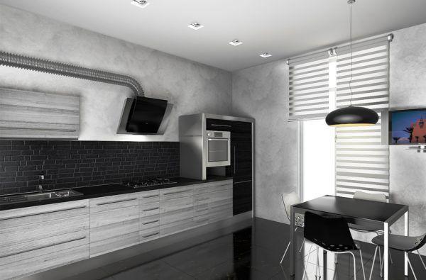 Принято считать, что кухня в стиле хай тек - это огромное пространство, наполненное стеклом, металлом и пластиком