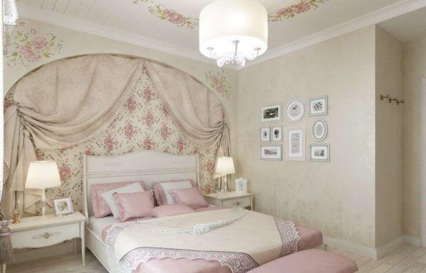 Прованский стиль предусматривает фактурные стены