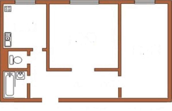 Раздельная планировка с двумя изолированными комнатами с отдельными входами