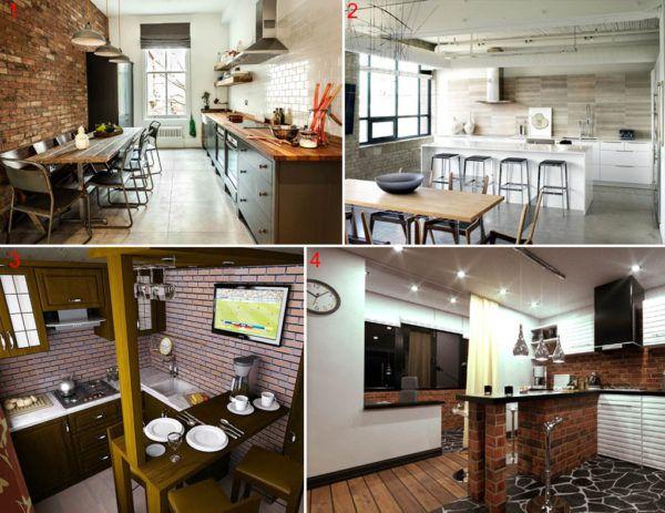 Разные варианты оформления кухни в стиле лофт