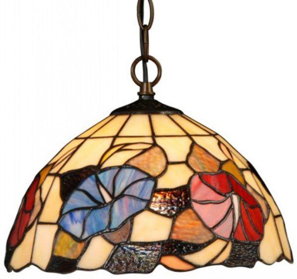 Раскрашенная стекольная люстра