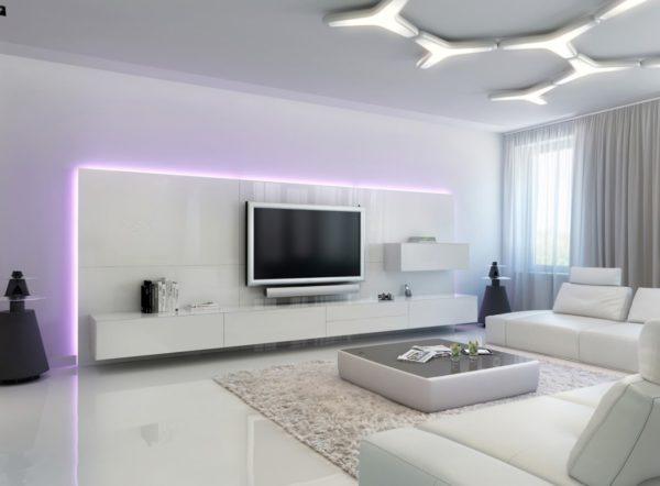 Регулирование яркости в потолочном светильнике в стиле Хай-тек