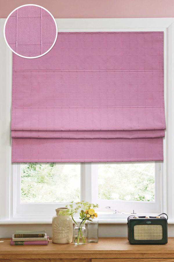 Розовая римская штора