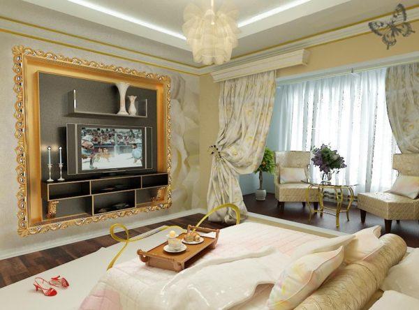 Роскошная светлая гостиная в стиле Арт-деко