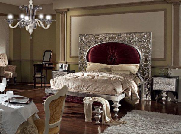 Роскошная спальня в стиле арт-деко