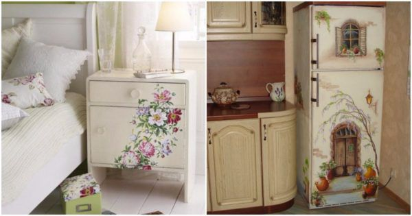 Салфетки - самый простой способ декорировать крашенную мебель колоритными узорами