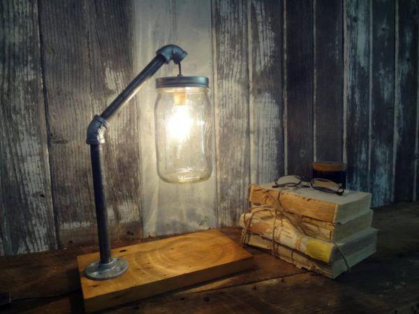 Самодельный светильник из стеклянной банки