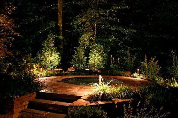 Светодиодное освещение пруда