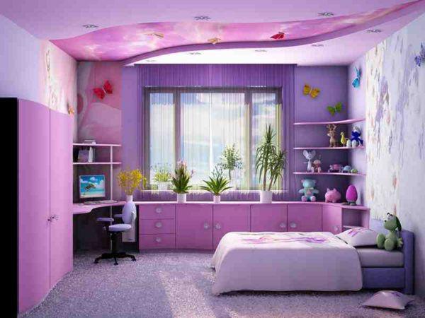 Сиреневая детская комната