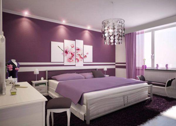 Сиреневый - это спокойный цвет, который идеально подходит для спальни