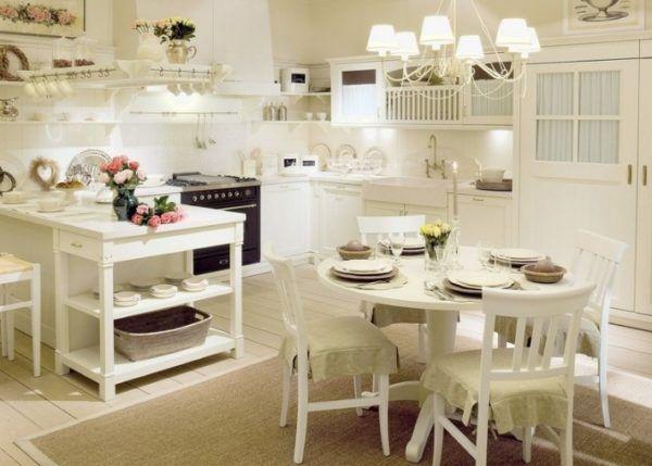 Стиль прованс на светлой кухне