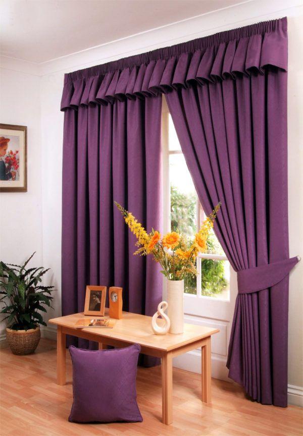 Темно-фиолетовые шторы
