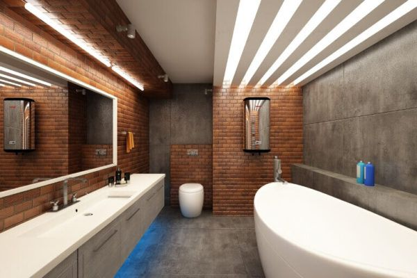 Три столба Лофта - простор, зонарное освещение, каменные стены