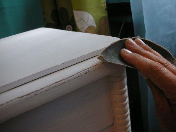 Финишная обработка высохшего покрытия