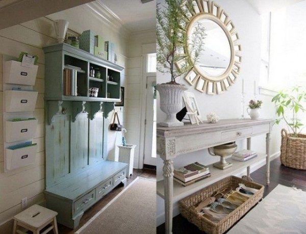 Фото состаренной мебели в коридоре