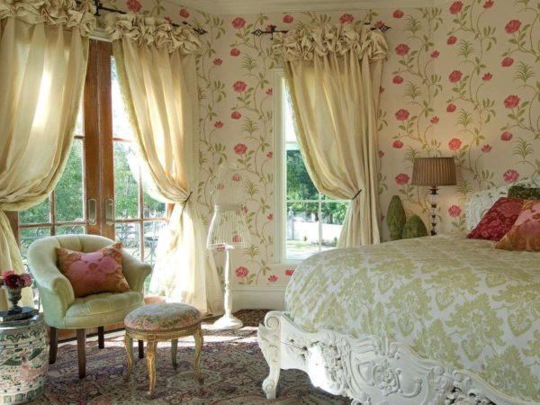 Цветочная спальня в стиле прованс