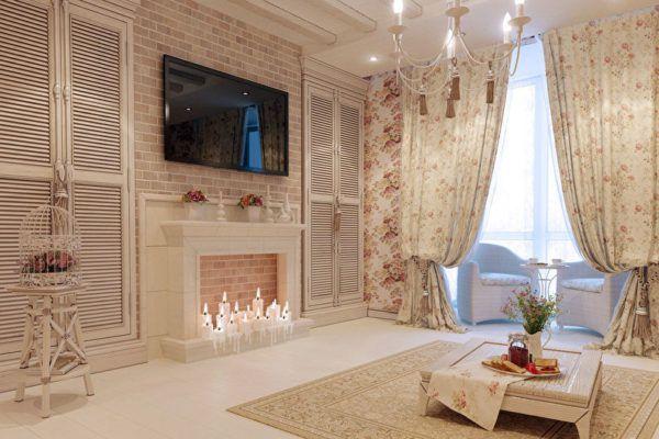 Цвет штор должен совпадать с гаммой гостиной или стать необычным акцентом