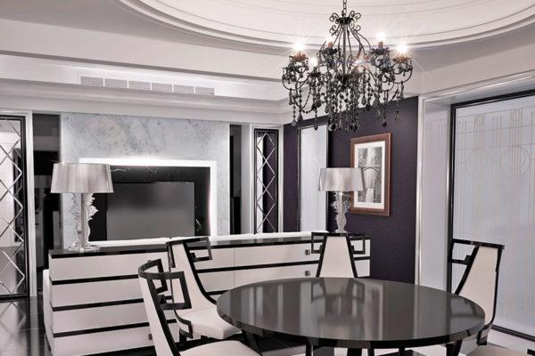 Черно-белая цветовая гамма – главная в стиле арт деко